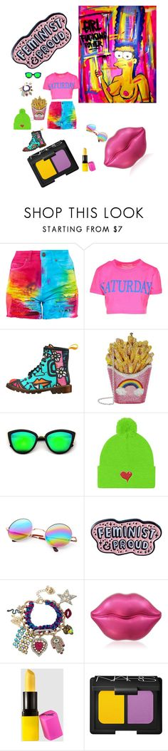 """""""Colorful Aura 🤪"""" by amber-jade-i ❤ liked on Polyvore featuring Alberta Ferretti, Judith Leiber, Punky Pins, Betsey Johnson, TONYMOLY and NARS Cosmetics"""