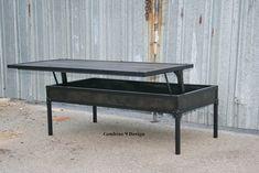 Vintage Industrial Adjustable Height Coffee Table. Mid by leecowen