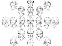 Hoe maak je een menselijk hoofd trekken. Begin met tekening drie ovale vormen, een grote en 2 kleinere aan de linker-en rechterzijde van de grote ovale.