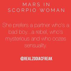 Mars in Scorpio Woman