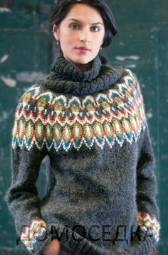 Ravelry: Turtleneck Pullover pattern by Amy Gunderson (Vogue knitting winter Fair Isle Knitting Patterns, Knit Patterns, Vogue Knitting, Hand Knitting, Handgestrickte Pullover, Icelandic Sweaters, Universal Yarn, Pulls, Look Fashion