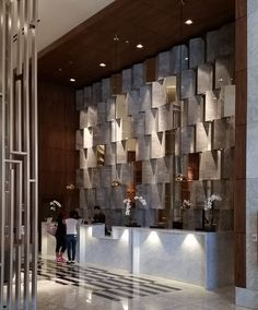 Hotel Lobby Design, Luxury Hotel Design, Luxury Hotels, Hotel Reception, Reception Design, Room Tiles Design, Design Bedroom, Lobby Interior, Interior Design
