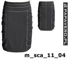 Wykrój do pobrania, spódnica z marszczeniami od Papavero Sewing Patterns Free, Free Pattern, Skirt Tutorial, Pants Pattern, Skirt Pants, Plus Size, Skirts, Model, Clothes