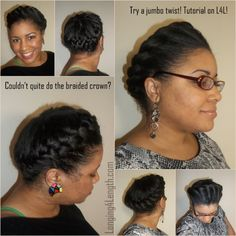 Twisted Crown Hairstyle Tutorial