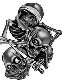Trio of skulls