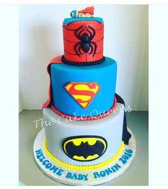 The Cake Queens - San Carlos, CA, United States. Superhero Babyshower Cake