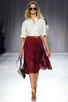 Cranberry skirt - Paul Smith Spring 2012 RTW