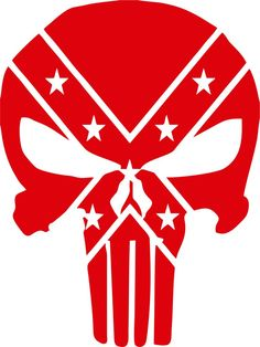 The Punisher Confederate Rebel Flag Vinyl Decal Decals N Hunting Decal, American Flag Decal, Pinstriping Designs, Punisher Skull, Confederate Flag, Stencil Templates, Vinyl Shirts, Custom Vinyl, Vinyl Decals