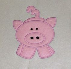 Pig Embroidery Machine Applique Design603   Buy 2 by JakkisDesigns, $4.99