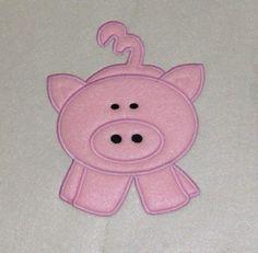 Pig Embroidery Machine Applique Design603   Buy 2 by JakkisDesigns, $4.99