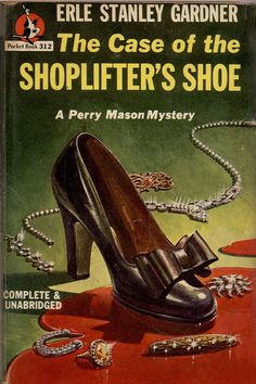 The Case of the Shoplifter's Shoe by Erle Stanley Gardner #book #cover