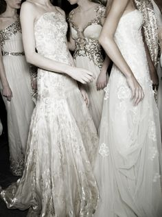 Backstage at Zuhair Murad haute couture, Spring 2013.