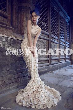 Think mermaid wedding! Divine Alexander McQueen - SS12 white pearl embroidered gown