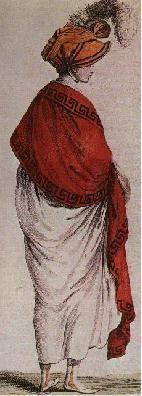 coquelicot colored shawl