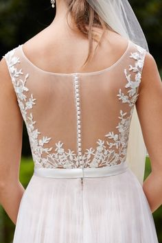 Wtoo Brides Marnie Gown Style 14715 | Watters.com -- this would frame my butterfly tattoo beautifully! ♡