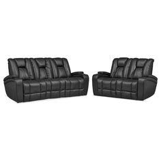 Living Room Furniture - Pulsar Dual Power Reclining Sofa and Dual Power…