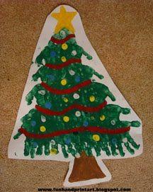 Handprint Christmas Tree Art - Fun Handprint Art