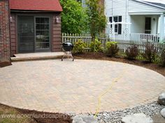 Patio paver patio Design Ideas, Pictures, Remodel and Decor Backyard Patio Designs, Backyard Landscaping, Backyard Ideas, Pond Waterfall, Concrete Patio, Patio Stone, Yorkie, New York, Website