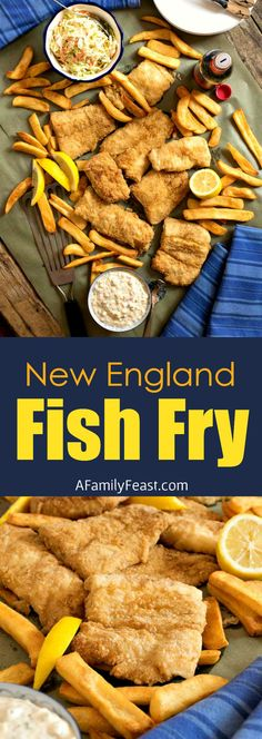 This New England Fish Fry is so good, it rivals some of the best seafood restaurants on Cape Cod! Crispy, light and tender. Shellfish Recipes, Seafood Recipes, Cooking Recipes, Cooking Fish, Chicken Recipes, Catfish Recipes, Fried Fish Recipes, Shrimp Dishes, Fish Dishes