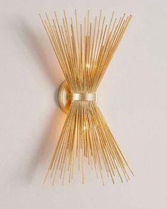 Spray Sconce in Gold Leaf