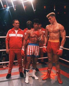 A gallery of Rocky IV publicity stills and other photos. Featuring Sylvester Stallone, Dolph Lundgren, Carl Weathers, Tony Burton and others. Sylvester Stallone, Movie Stars, Movie Tv, Vw R32, Rocky Film, Stallone Rocky, Apollo Creed, Carl Weathers, Dolph Lundgren