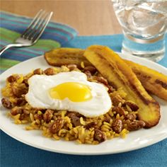 Peruvian Rice and Beans (Tacu Tacu) {good way to use up leftover beans & rice... you can totally skip the pepper paste and it will still turn out fine.}