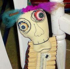 Fabric Monster  Doll  Spooky Art Doll   by MysticHillsNgaroma