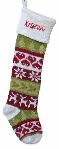Vintage-Style Fair Isle Christmas Stocking - Original Design ...