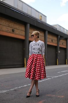 Skirt: ASOS. Sweatshirt: Zoe Karssen. Shoes: Prada Peter Pan Collar: Milly NY Sunglasses: Karen Walker 'Number One'. Watch: Michele. Jewelry: Jcrew, David Yurman, Stella and Dot.