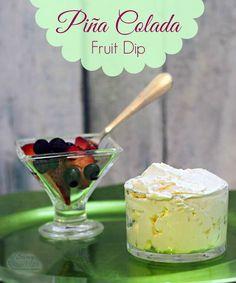Piña Colada Fruit Dip Recipe