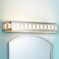 Ringlet Circles Bar Bath Light - good match for our wallpaper in powder bath.