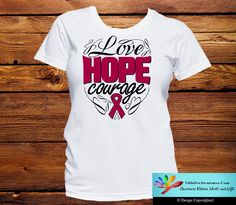 Multiple Myeloma Love Hope Courage Shirts