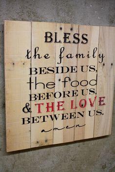 Bless the... Dinner prayer  custom pallet by GlampAndGritDesign