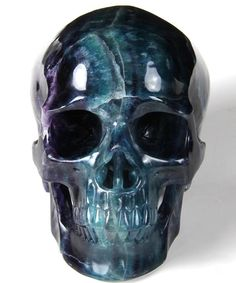 Fluorite Crystal Skull Sculpture