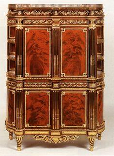 MOLITOR, Bernard,  Drop-front secretaire, c. 1789, Veneered oak, height 139 cm  Wallace Collection, London