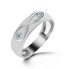 """""""An elegant design with two sparkling diamonds; the Infinity Diamond Ring is the symbol of passion and bliss. Gift your loved one with the Infinity Diamond Ring, this romantic season.""""  Order@ http://www.shopcherries.com/"""