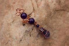 Copper Ear Cuff with Purple Amethyst by MountainUrsusDesigns, $15.00