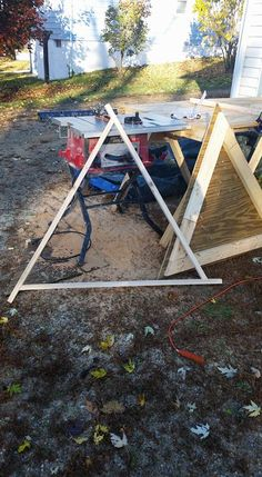 Triangle right off the jig. the corners will get trimmed next.
