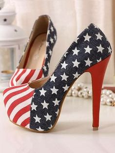 AMERICAN FLAG Heels. Land of the free and home of the brave for wearing those bad boys!