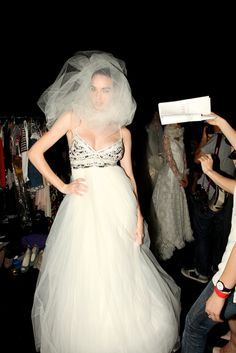 Cloud of Silk tulle by Hatmaker.    Backstage at Fashion Full Stop 2011. Pic of Simone Kerr by Fernando Barraza for Backstage Fix.