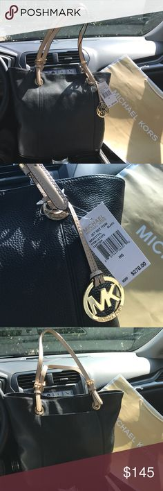 $278 New Michael Kors Jet Set MK Handbag Purse Bag LAST 1! / Guaranteed Athentic 38T7CTTT2L / Retail: $278 / Model: JET SET ITEM MD TOTE / Genuine Leather / Black / Gold hardware / 18 long / 16 Tall / 14 wide open (Large) / Rare find / New with Michael kors care card and UPC tag / UPC: 885949986970 / No trades. Buy now or offer only / Shipped same business day Michael Kors Bags Shoulder Bags