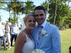 Channon and Ben, who were married by Cairns Celebrant Janine Meakin of NQCelebrations at Castaways at Mission Beach on 17th October 2015