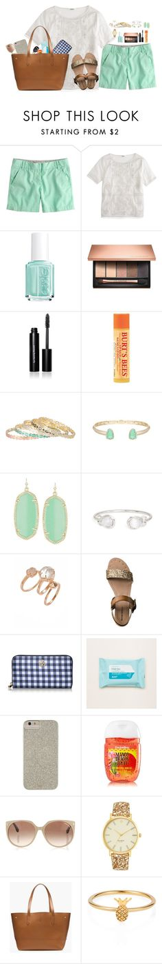 """Preppin' for Summer"" by sc-prep-girl on Polyvore featuring J.Crew, Essie, Clarins, Bobbi Brown Cosmetics, Burt's Bees, Kendra Scott, Mossimo, Tory Burch, Aerie and Case-Mate"