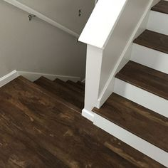 Best Luxury Vinyl Plank On Stairs With White Risers Vinyl Floors Tile Stairs Luxury Vinyl Plank 400 x 300
