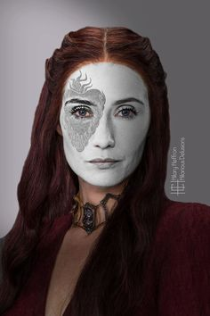 Melisandre | Game of Thrones War Paint by Hilary Heffron - Hilarious Delusions