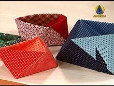 Sabor de Vida Artesanatos | Caixa de Origami em Tecido por Thais Kato - 09 de Abril de 2013 - YouTube