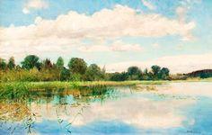 Scandinavian Summer Landscpe Painting