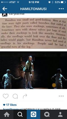"IM CRYING HELP ""Hamilton had no need of sandbags in his stockings"""
