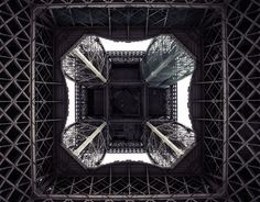 A different view of one of the worlds most famous landmarks. I wanted to show the amazing structure close up with all the detail. Blue Sky Photography, Art Photography, White Art, Black And White, Famous Landmarks, Photoshop, Photography Projects, Paris Travel, Architecture Details