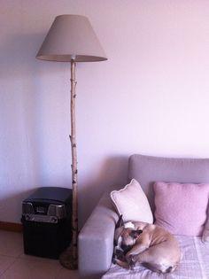 Lampe en branche de bouleau